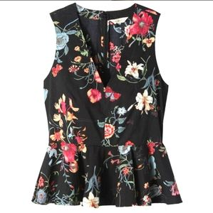 🆕Rebecca Taylor Meadow Floral V-Neck Peplum Top
